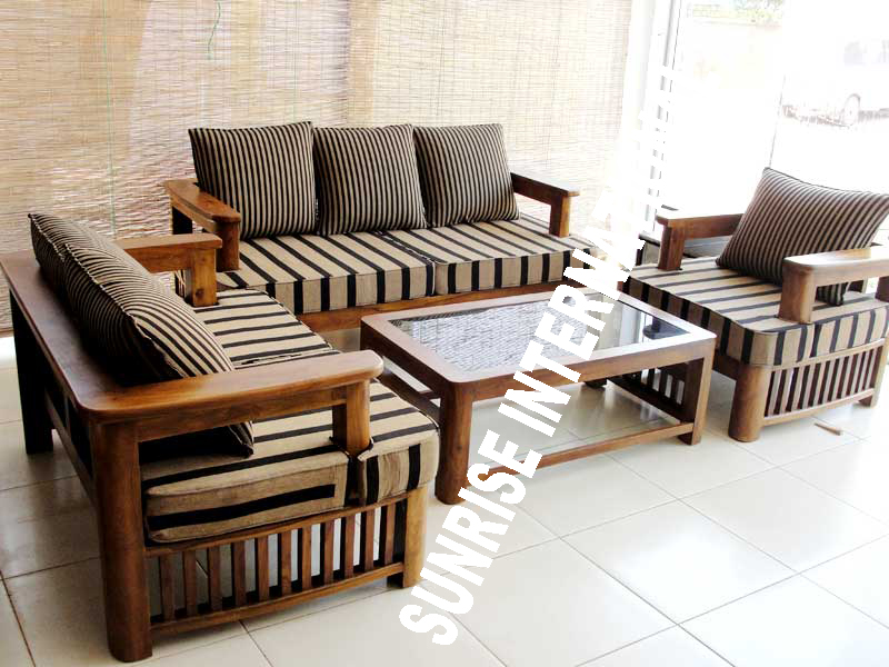 Wooden Sofa Set ~ Sunrise international wooden sofa sets l shade set